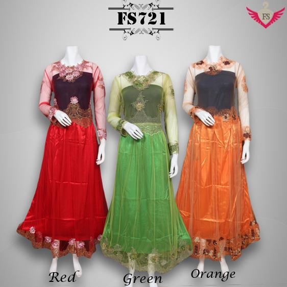 Gaun Pesta Kebaya Modern Barbie Tile Fs721 Fika Shop
