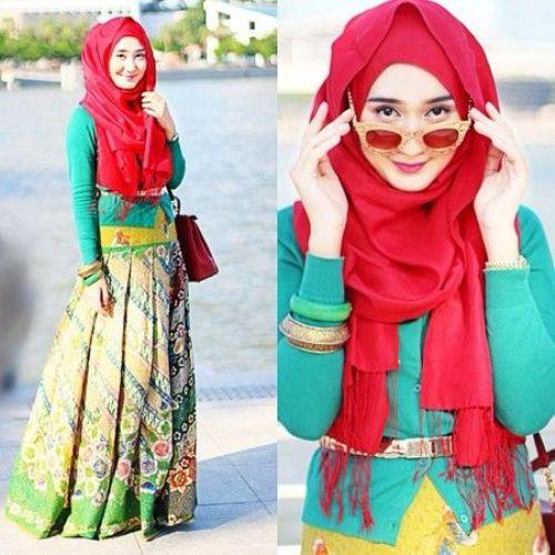Model Baju Batik Kombinasi Ala Dian Pelangi Fika Shop