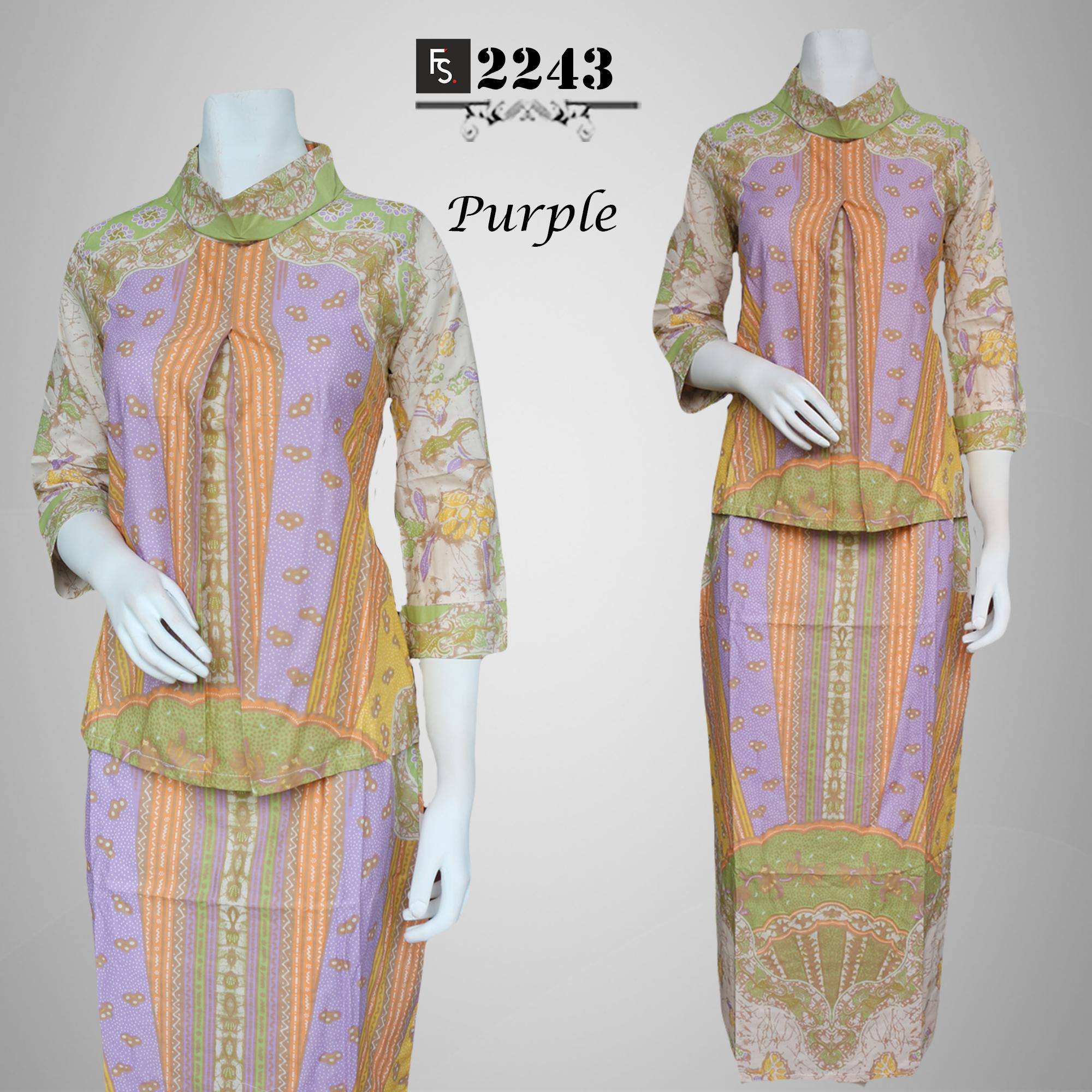 Setelan Baju Pesta Batik Pelangi FS2253